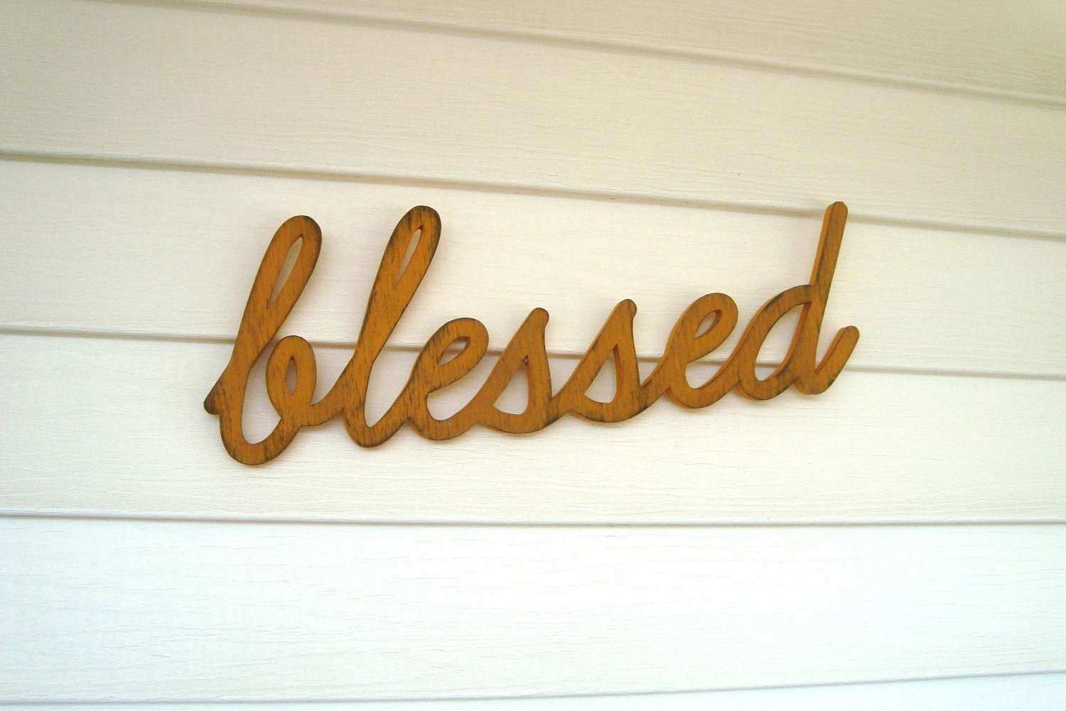 blessed handmade wooden wall art sign home by HomegrownSignCo