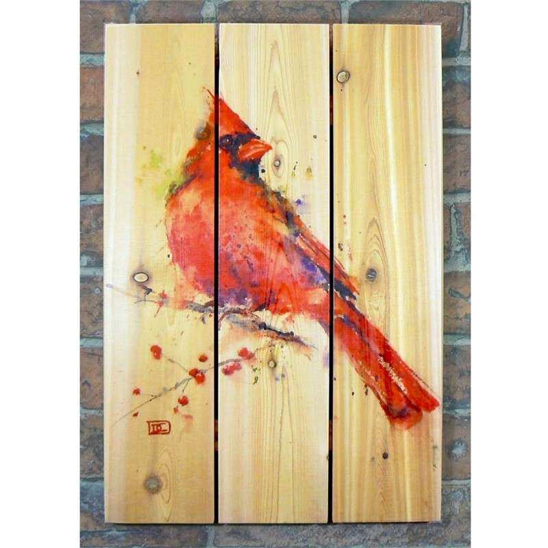 Handcrafted Red Cardinal Wood Wall Art by Gizaun Art™ in