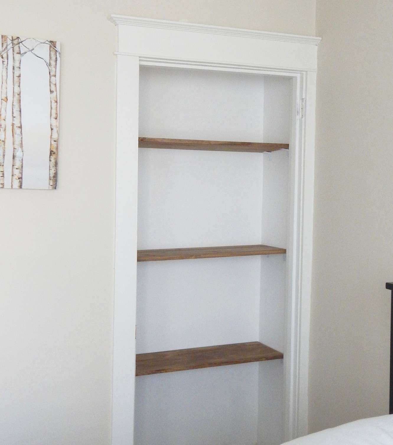 Hanging Pictures On Plaster Walls Awesome Small Closet Be Es A Bookcase & Tips for Hanging Heavy Things On