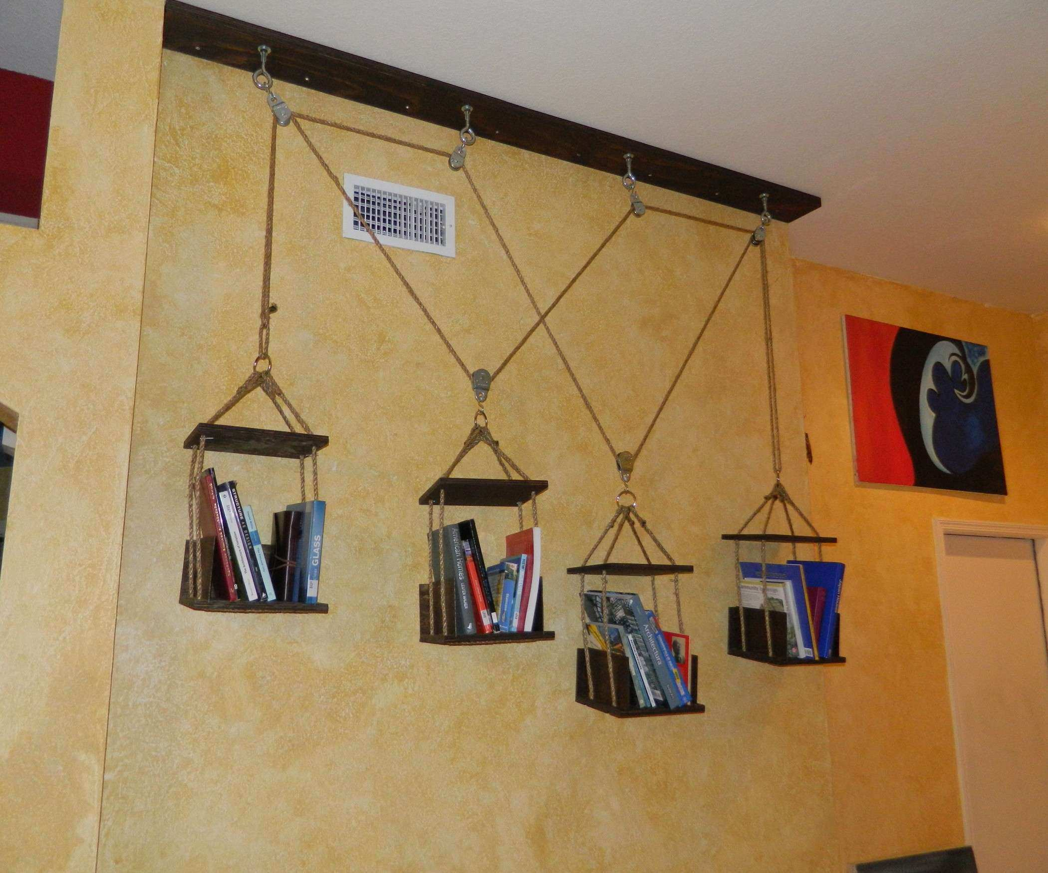 Hanging Pictures On Plaster Walls Elegant Amazing Hanging Book Shelves From Ceiling Design Ideas