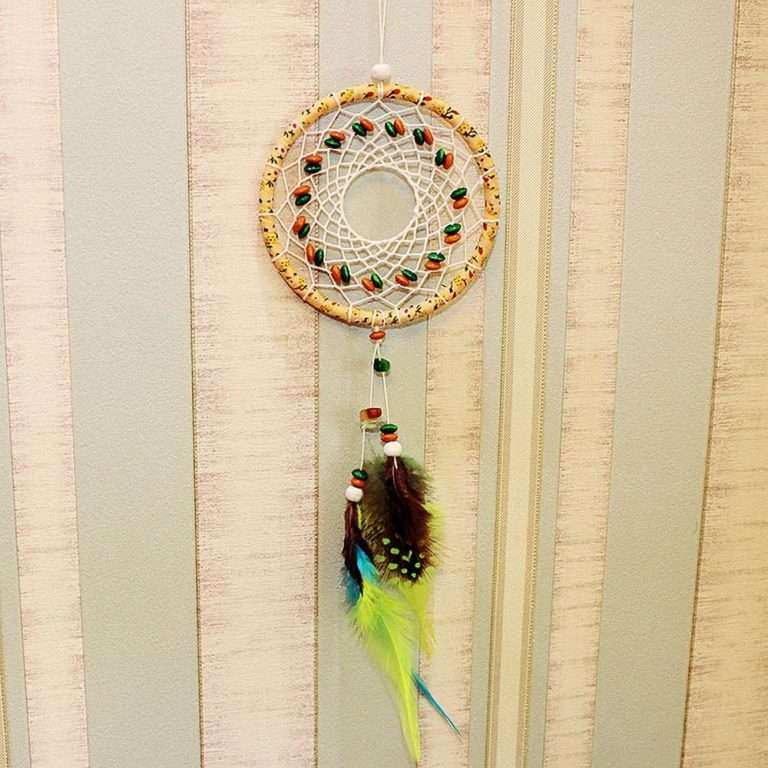 Hanging Wall Decor Unique New Feather Handmade Dream Catcher Car ...