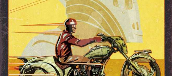 Harley Davidson Prints Wall Art Awesome Rocketeer Motorcycle Fake Ad ...