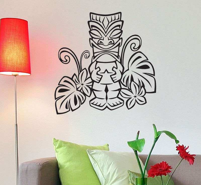 Vinyl Decal Wall Art Hawaiian Tiki