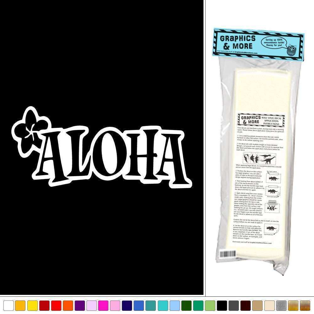 Aloha Plumeria Hawaiian Tropical Vinyl Sticker Decal