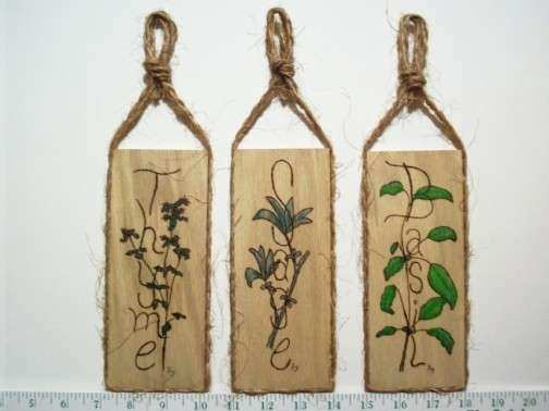 Herb wall plaques no db set of 3 by Ds Naturals on