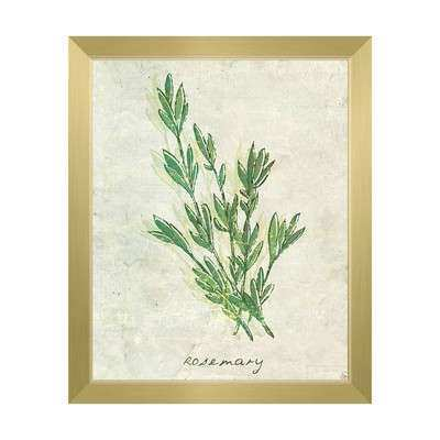 Herb Wall Art New Wall Art Herb Rosemary Framed Painting Print On