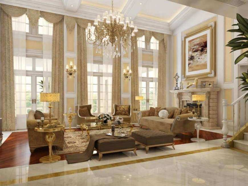 High Ceiling Living Room Wall Decor Luxury Decorating Ideas for ...