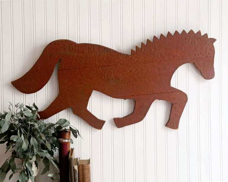 Horse Wall Art On Wood Awesome Rustic Sign Vintage