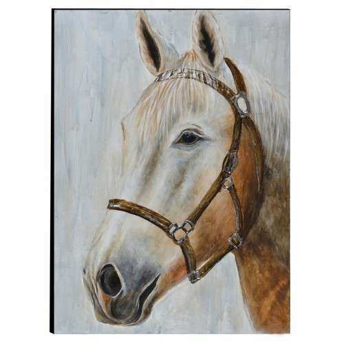Buy Horse Hand Painted Wood Wall Art Decor by Urban Port