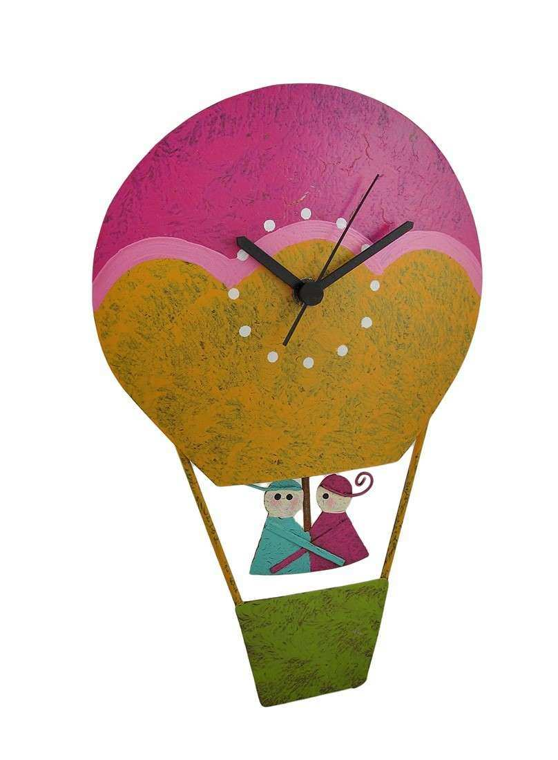Hot Air Balloon Metal Wall Art Luxury Hand Painted Recycled Metal ...