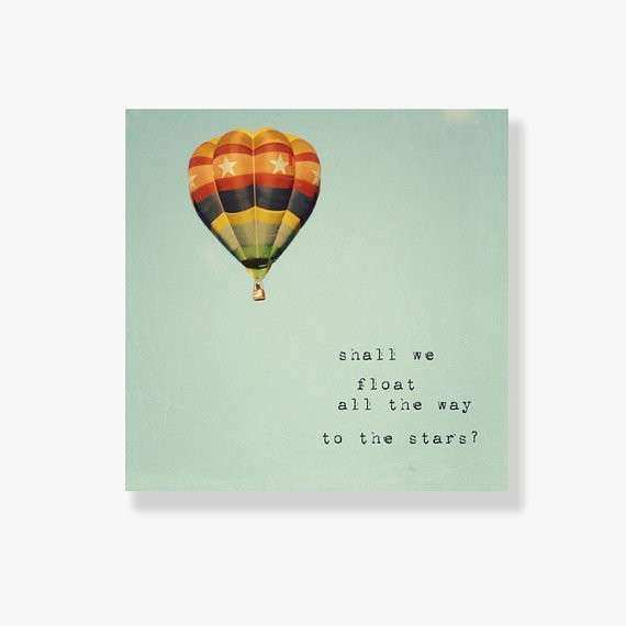 Items similar to Hot air balloon canvas art nursery decor