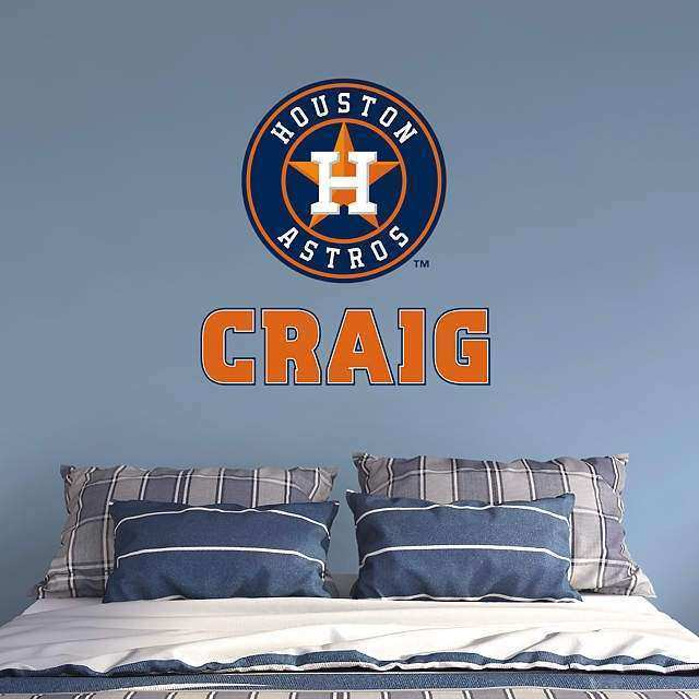 Houston Astros Stacked Personalized Name Wall Decal