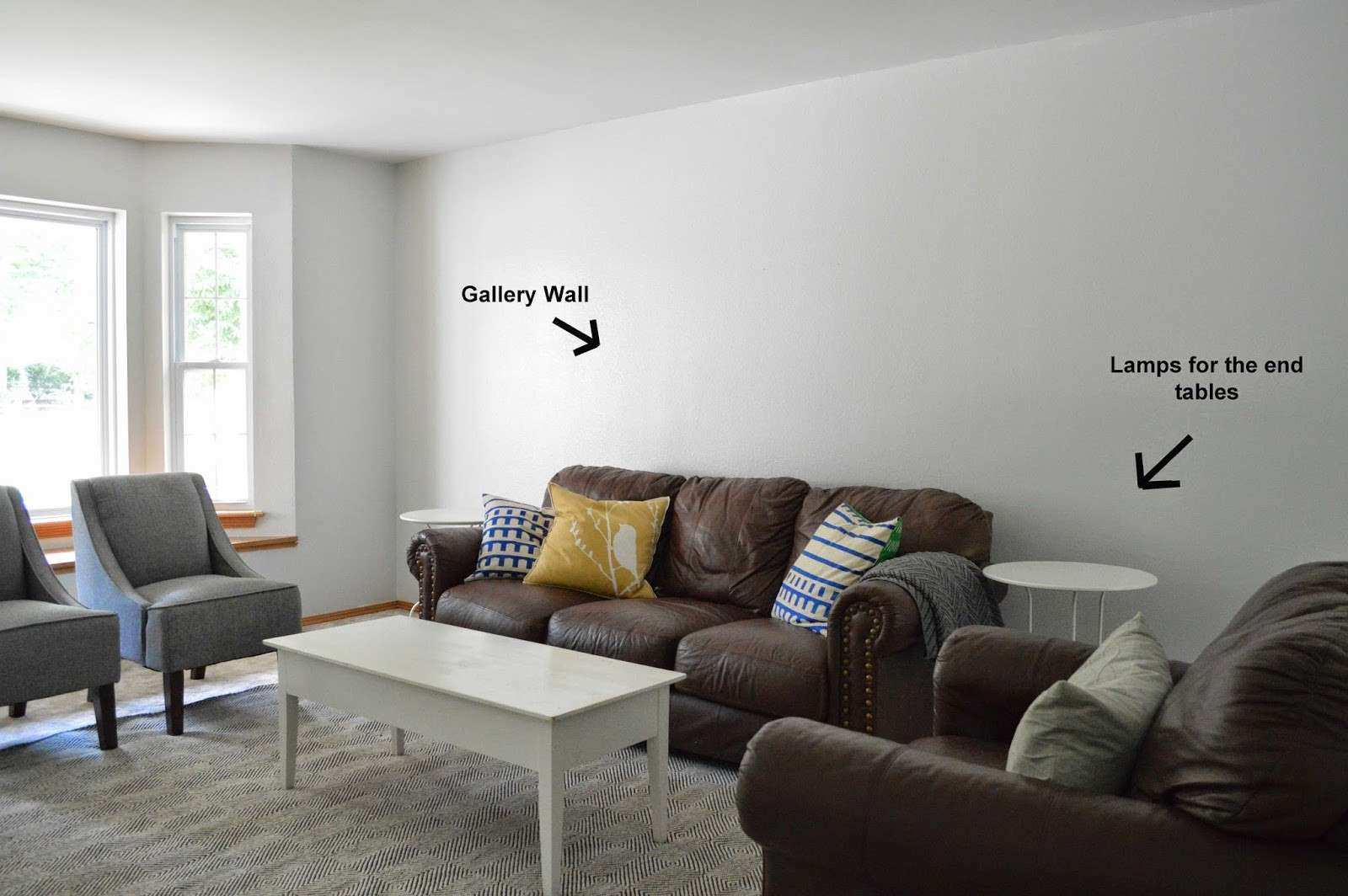 How to Decorate A Large Wall In Living Room Beautiful Decorate Empty ...
