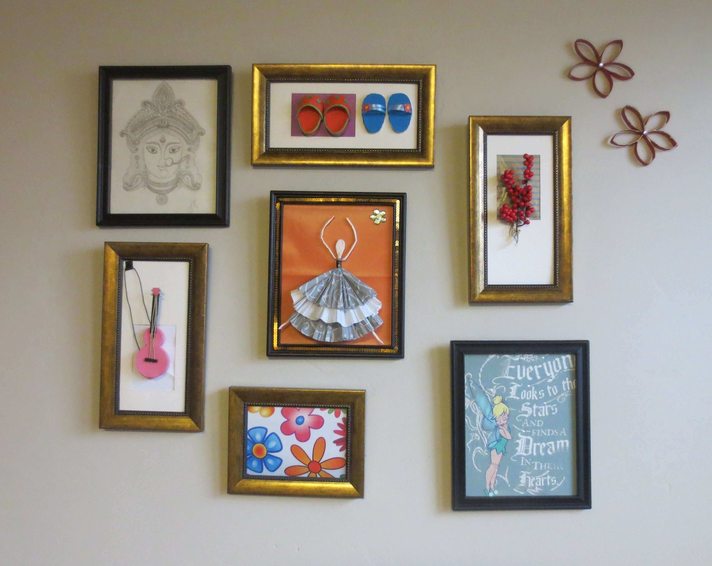 Home Decor Tshirt graphic & 3D Wall Art Picture Frame Collage