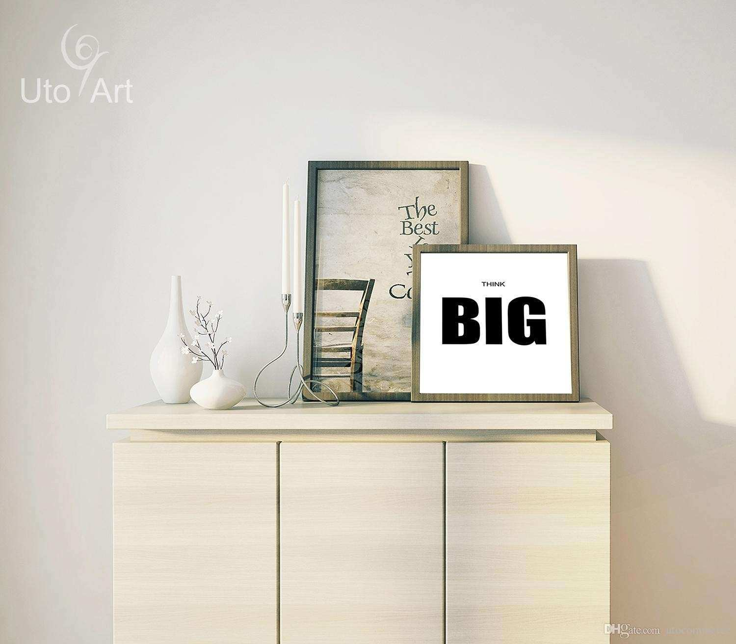 2018 Quote Think Big Quote Canvas Art Print Poster Wall