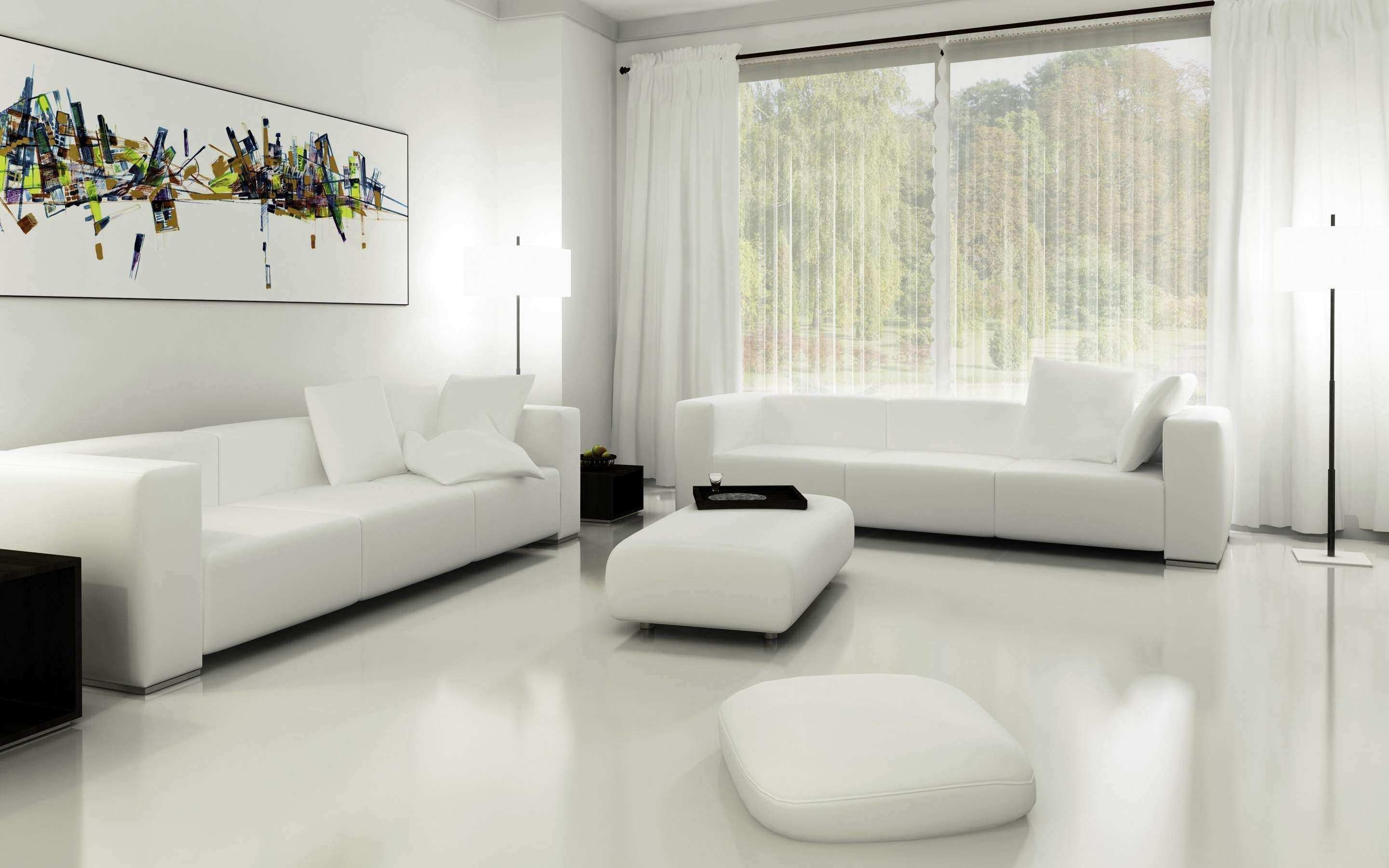 Luxury How To Decorate White Walls In Living Room
