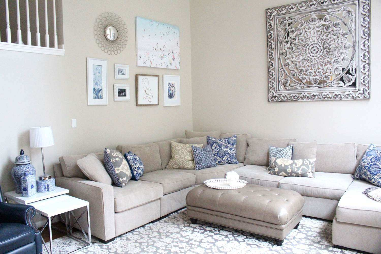 Luxury How to Decorate White Walls In Living Room | Wall Art Ideas