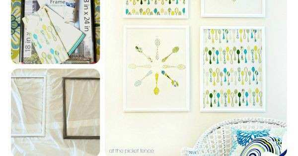 How to Frame Fabric for Wall Art Best Of Diy How to Make Framed Fabric Wall Art with Kitchen