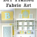 How to Frame Fabric for Wall Art Fresh Diy Framed Fabric Art Project