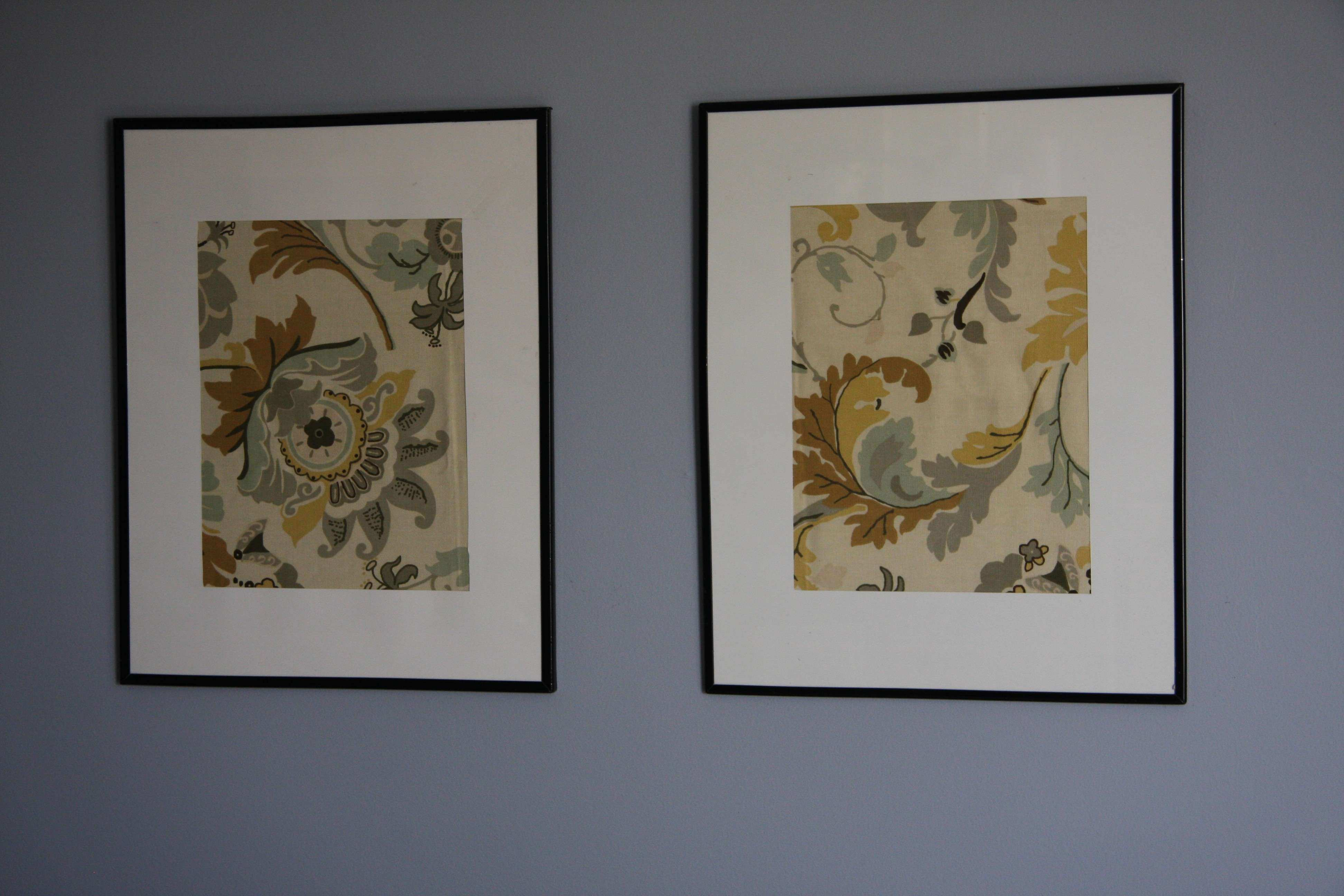 framed fabric art – lilybuttondesign