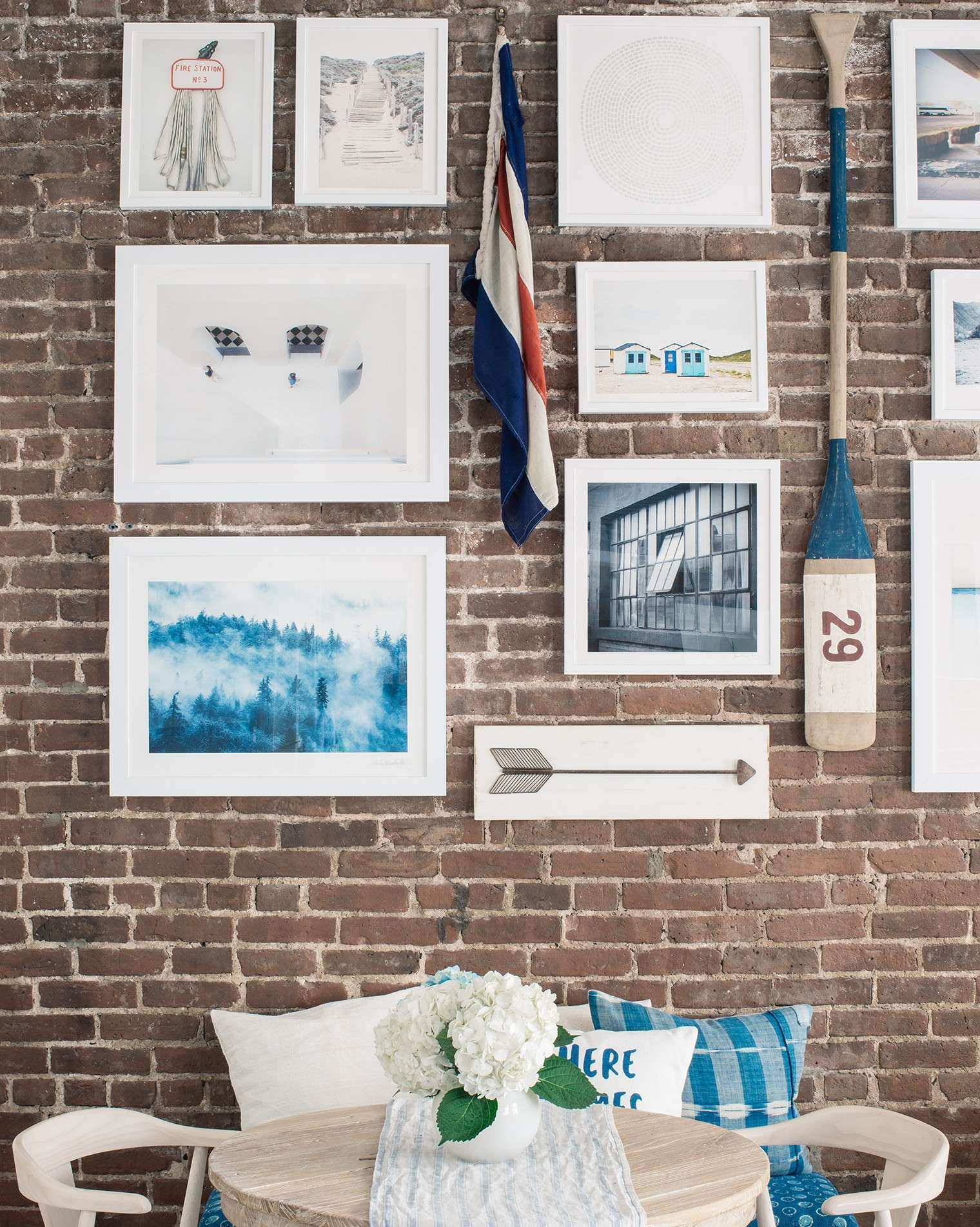 How to Hang A Gallery Wall on Exposed Brick Walls Bright Bazaar by