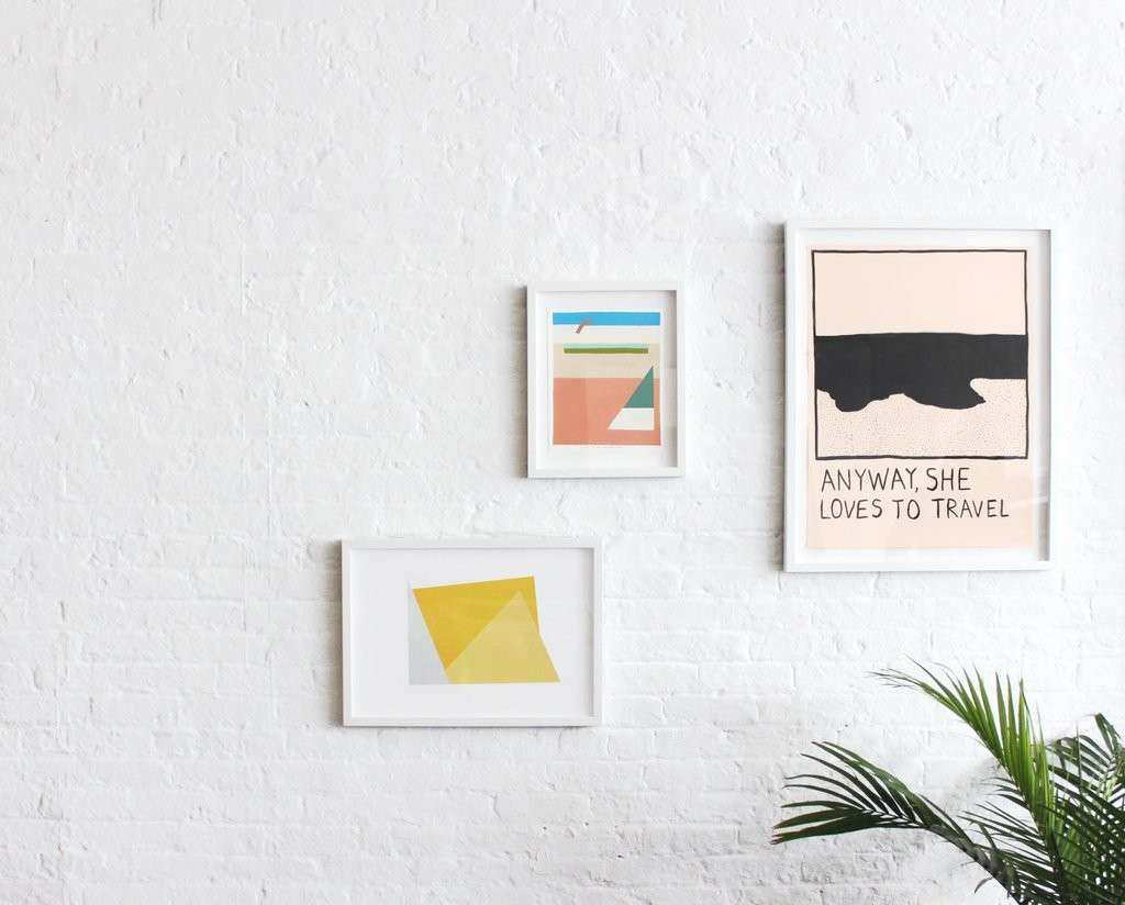How To Hang Art on Plaster Drywall Concrete Brick – Simply