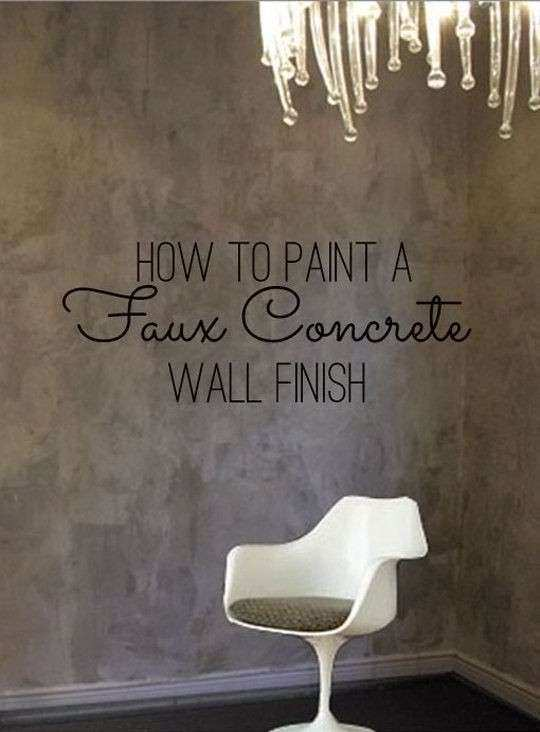 How To Paint a Faux Concrete Wall Finish Color Therapy