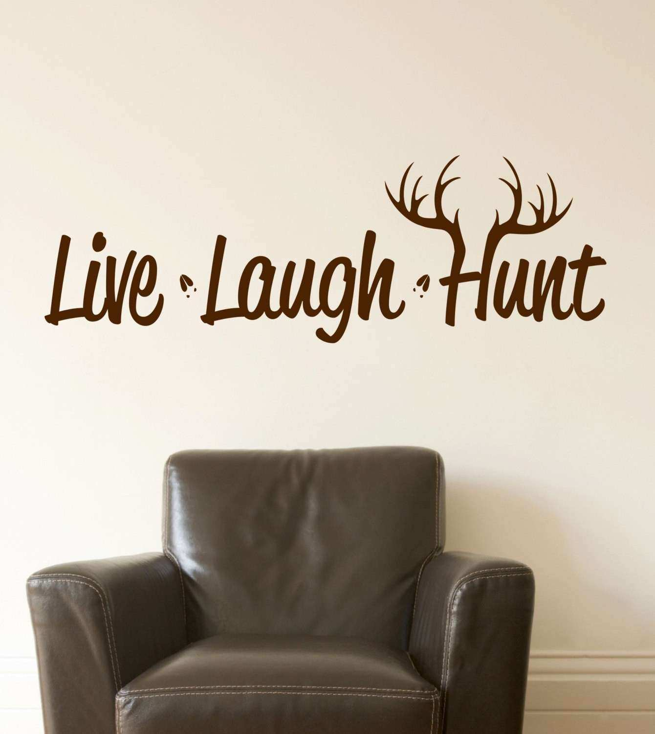 How to Print Vinyl Wall Decals Best Of Live Laugh Hunt Wall Decal Hunting Decor Deer Antler Decal