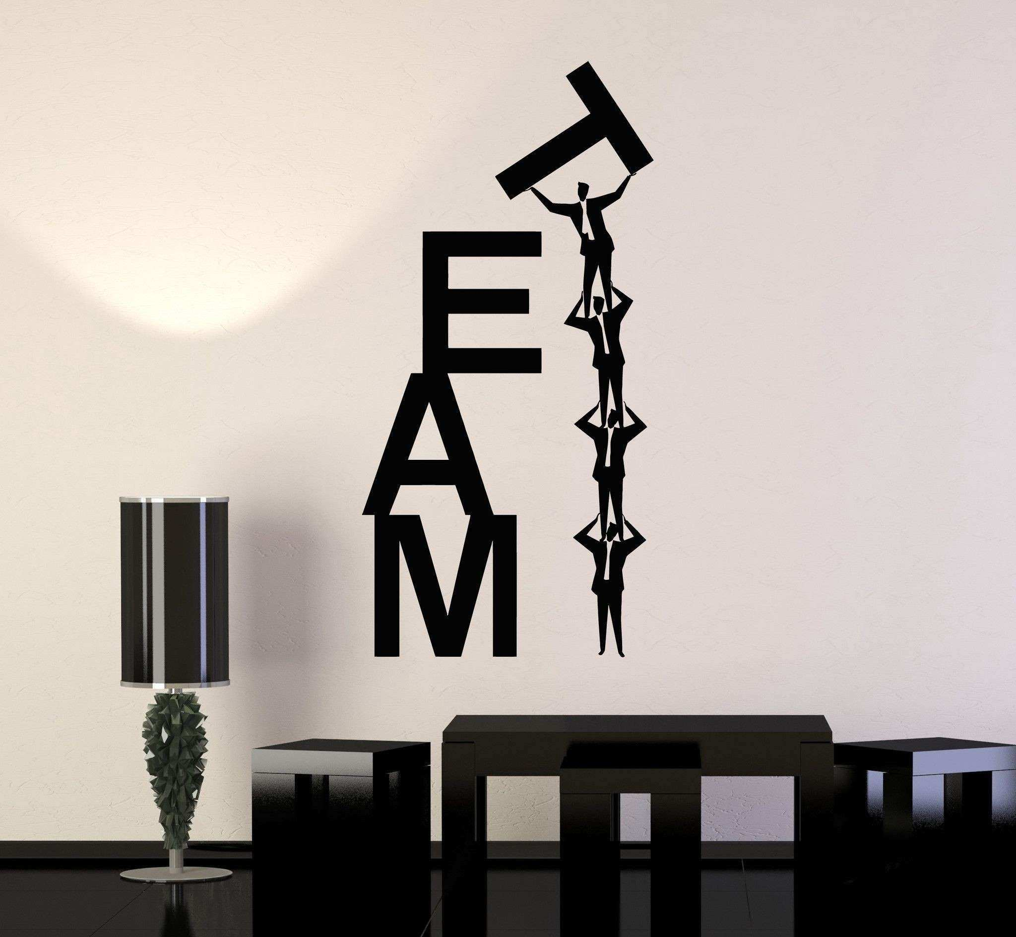 Vinyl Wall Decal Team Work Teamwork fice Business Word Stickers