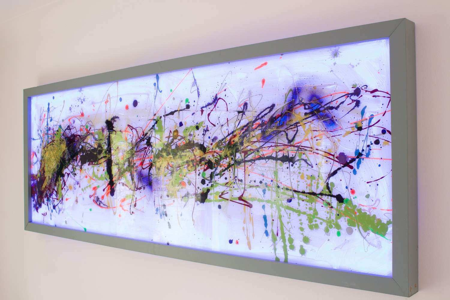 Extra Wall ArtAbstract Glass ArtModern Glass Painting