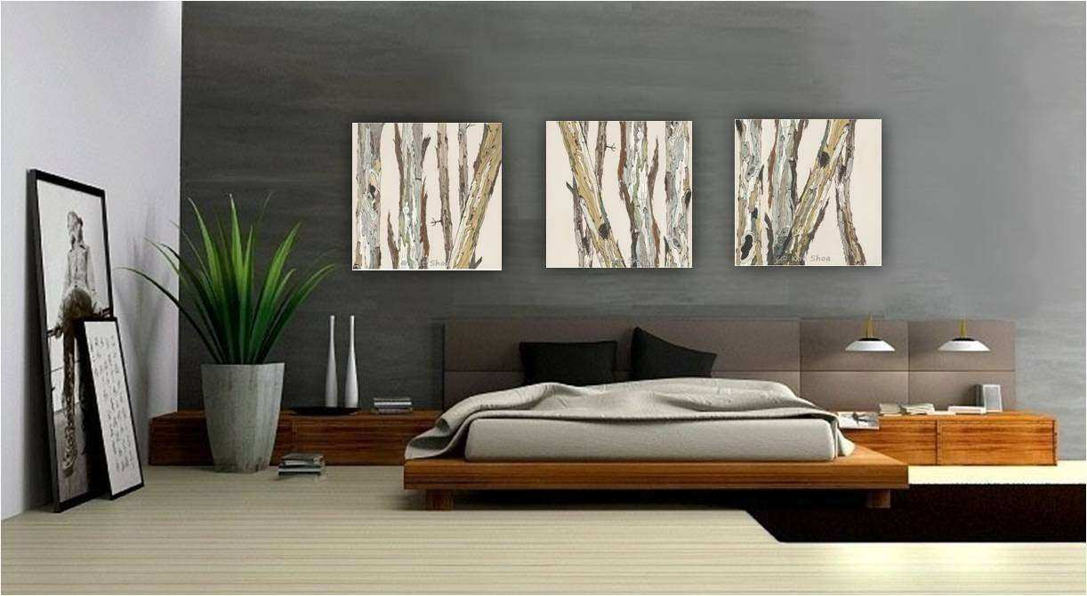 extra large wall art oversized triptych set dining room