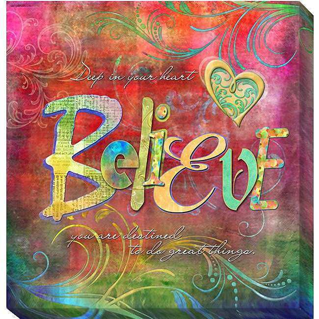 Connie Haley Believe Canvas Giclee Art