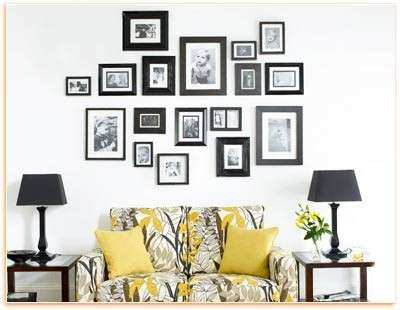 Ideas for Hanging Picture Frames On Wall Elegant Decorating Wall ...