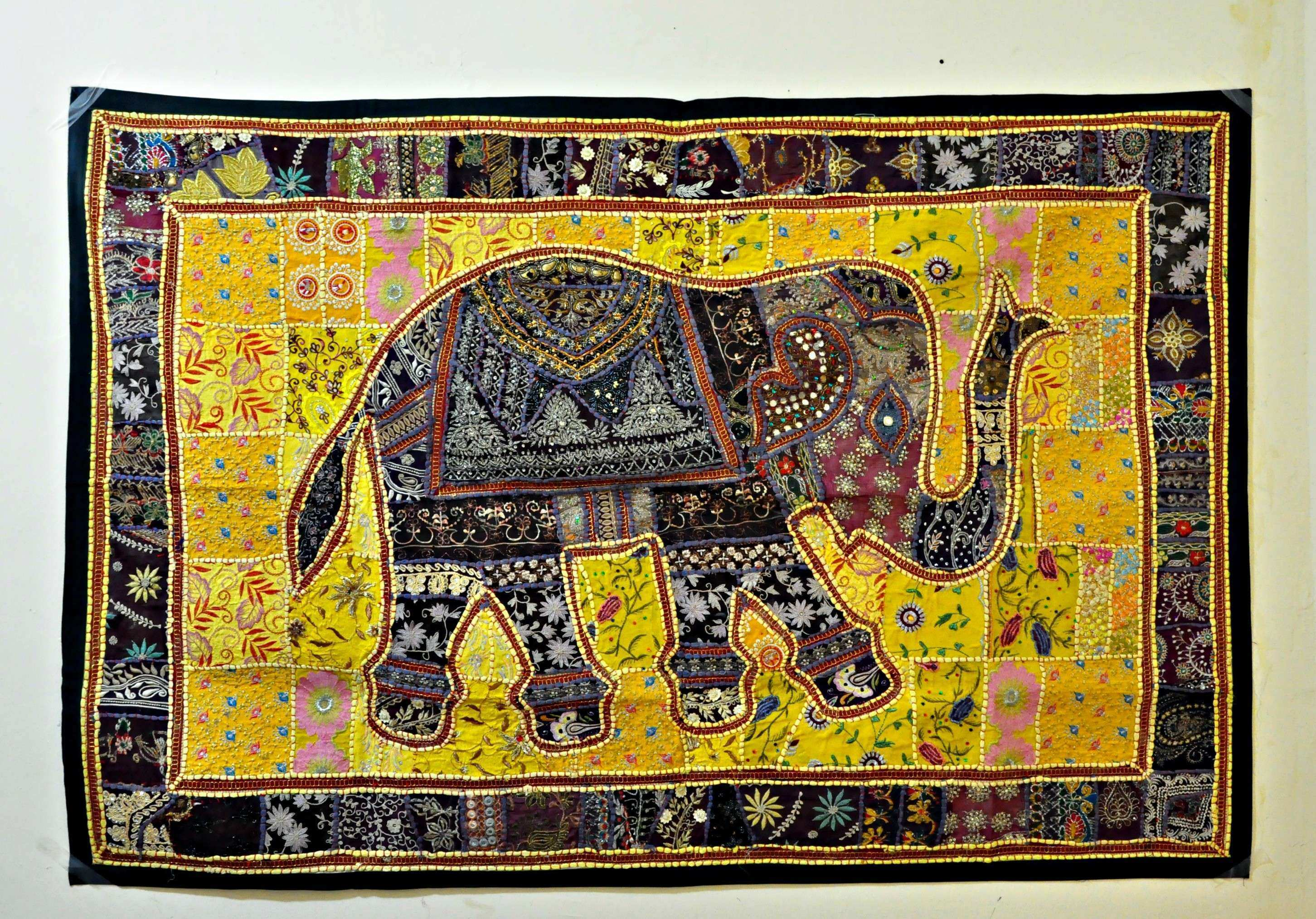 Indian Wall Art Beautiful Indian Vintage Handmade Patchwork Tapestry ...