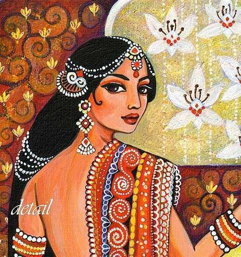 Indian Art Goddess Art Traditional Indian Painting by