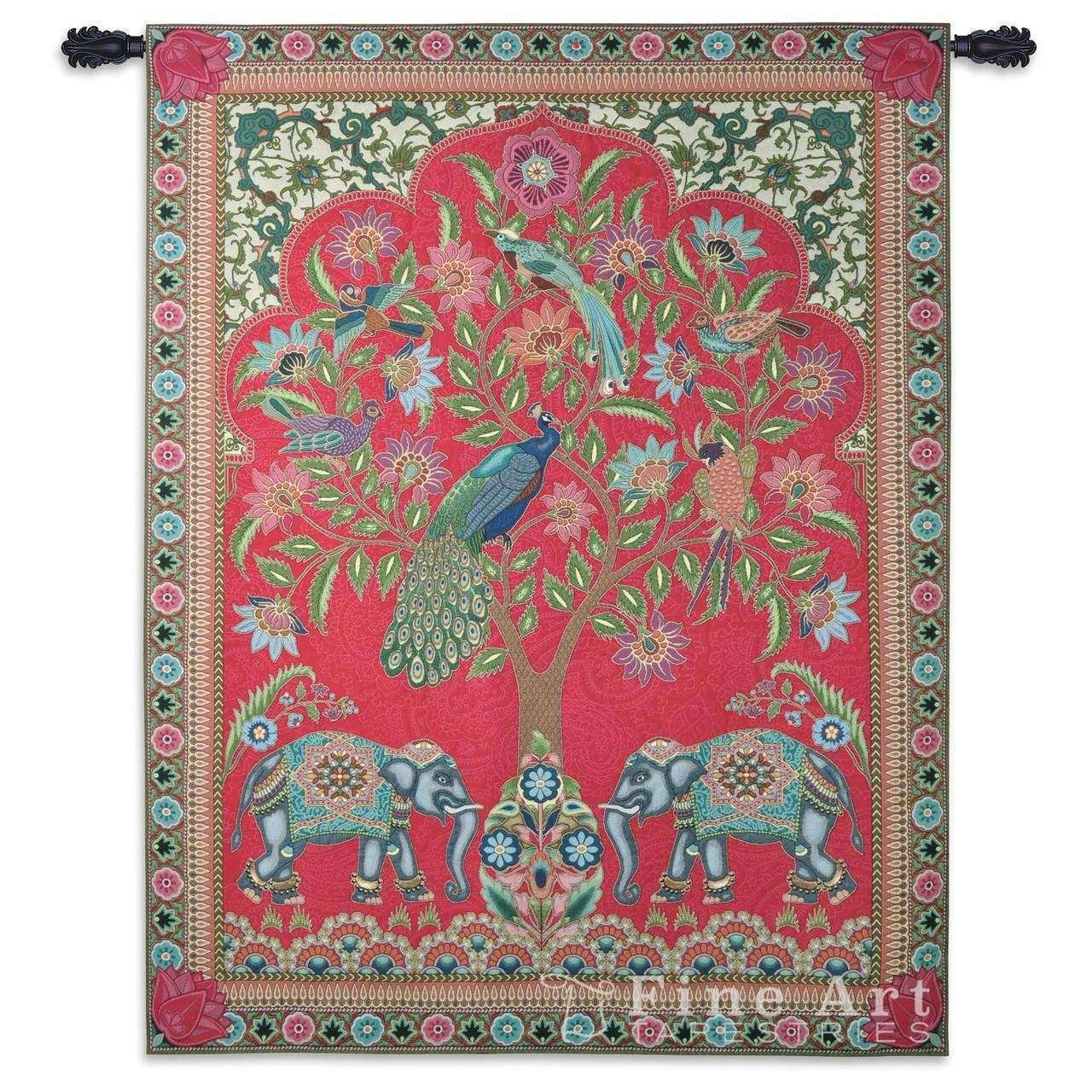India Tapestry Wall Hanging Ethnic Ornamental Design H67