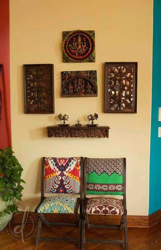 Indian Wall Decor Fresh Vibrant Indian Homes Home Decor Designs ...