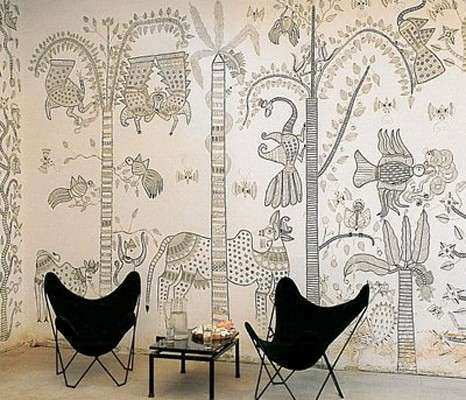 Amazing Indian Wall Decor Lovely Indian Folk Art Mural