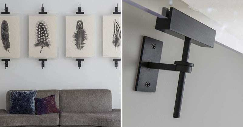 Wall Art Display Ideas These contemporary industrial