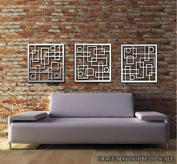 Metal Wall Art Decor Abstract Contemporary Modern