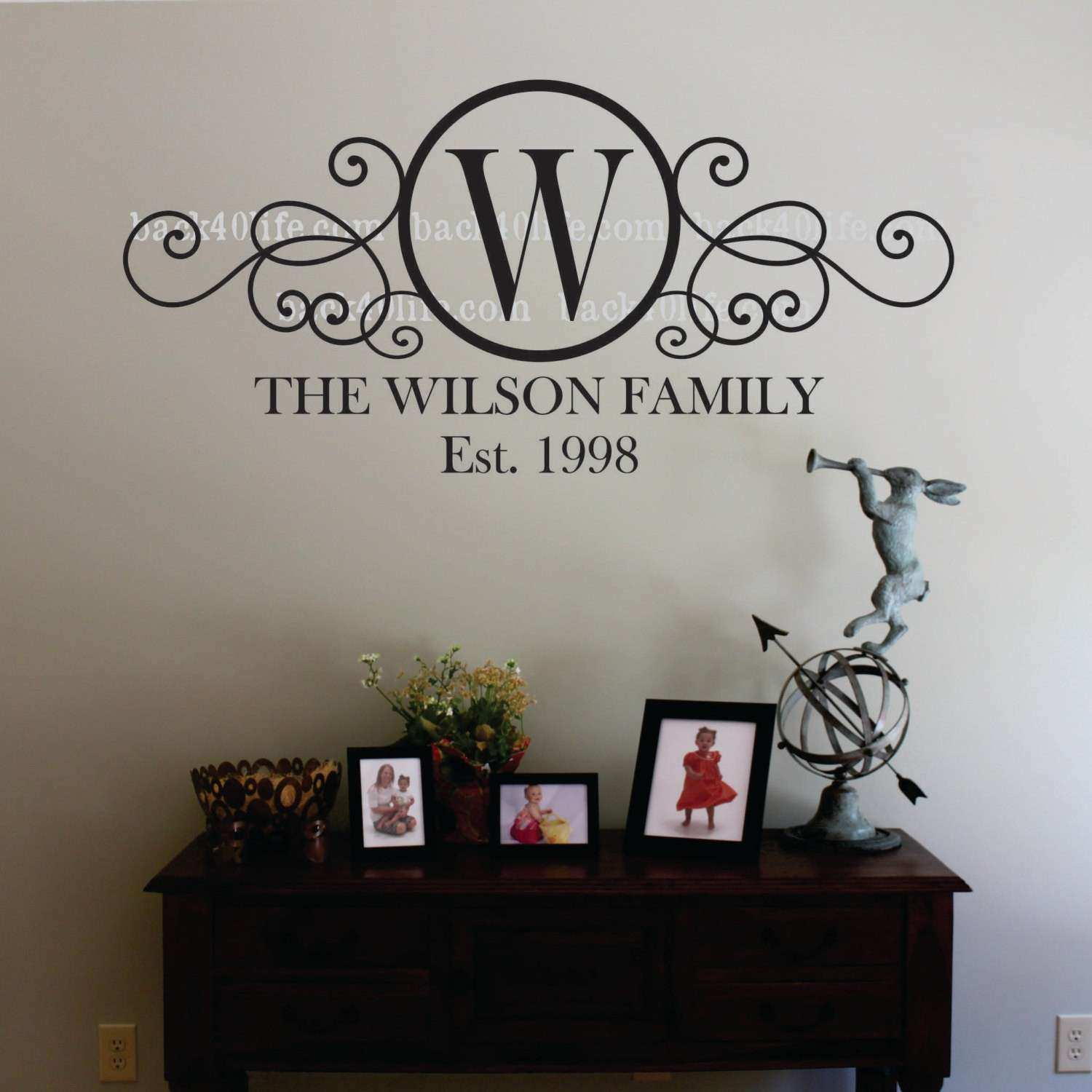 Initial Wall Decor Best Of Swirly Circle Family Monogram Vinyl Wall Decal M  010 By