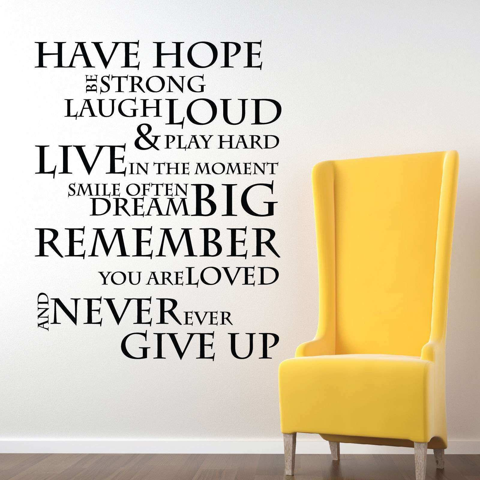 Inspirational Quotes Wall Art Beautiful Aliexpress Buy Have Hope ...