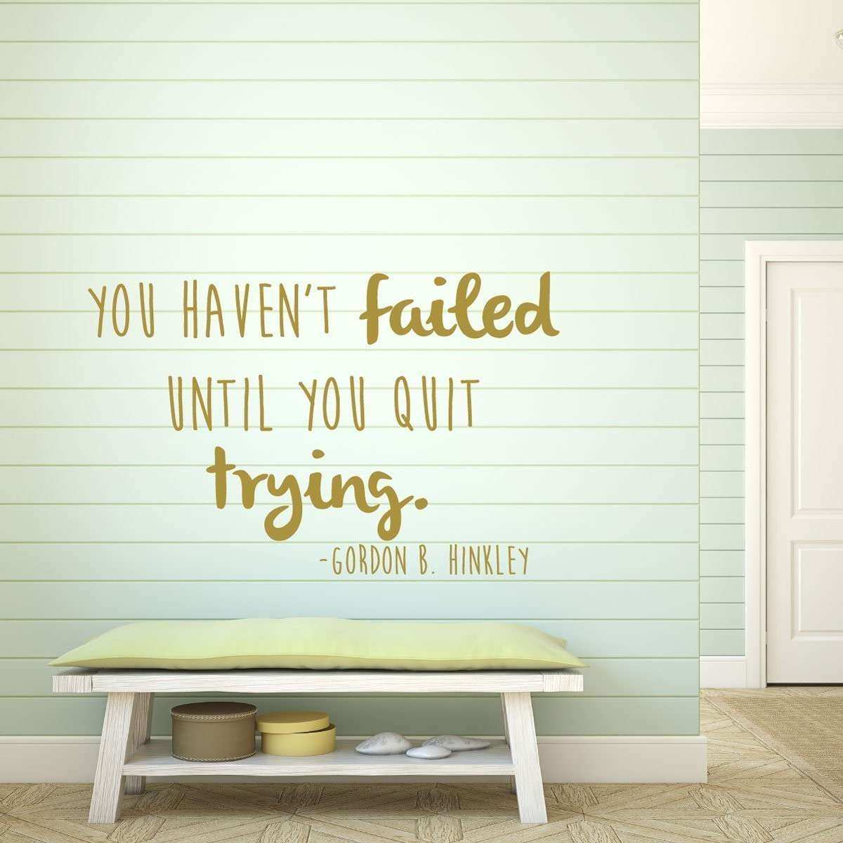 Inspirational Quotes Wall Decals Gordon B Hinckley Home
