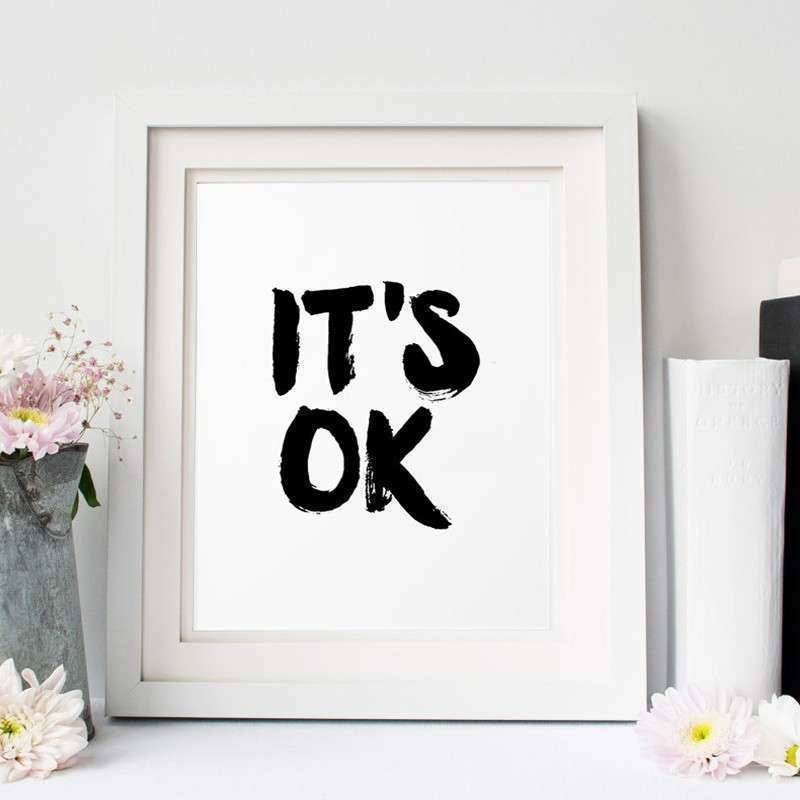 Aliexpress Buy It is ok inspirational poster wall