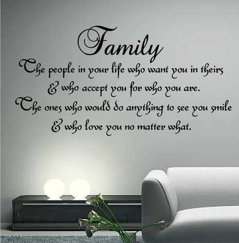 Family Inspirational Wall Art Decor Sayings
