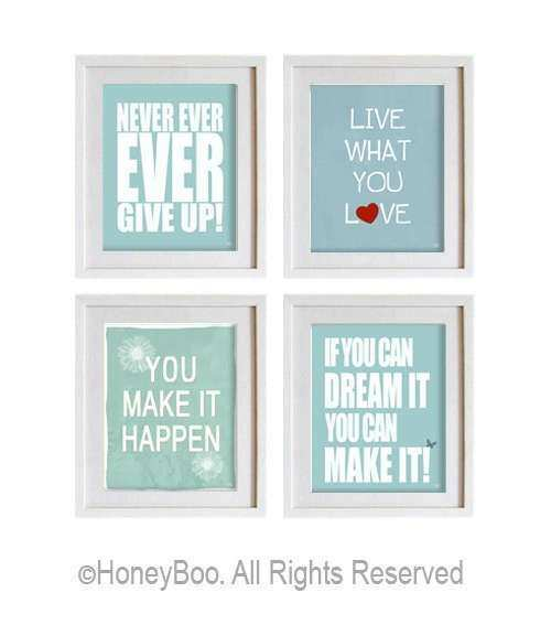 Items similar to Motivational art prints inspiring wall