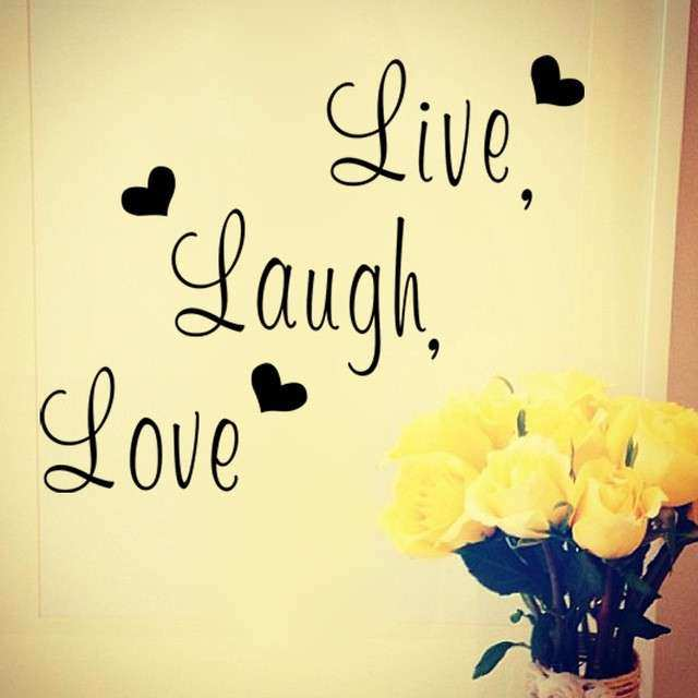 Aliexpress Buy Live laugh love Inspirational quote