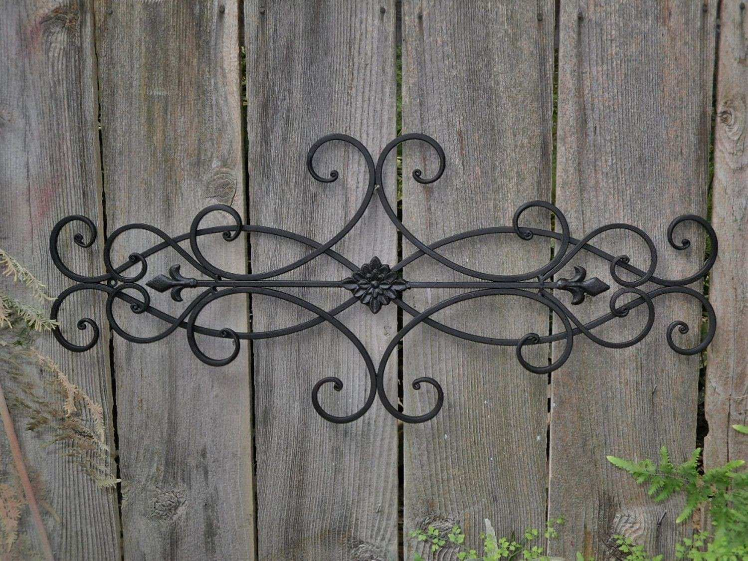 Iron Outdoor Wall Decor Elegant Tuscan Wrought Metal Rustic Antique