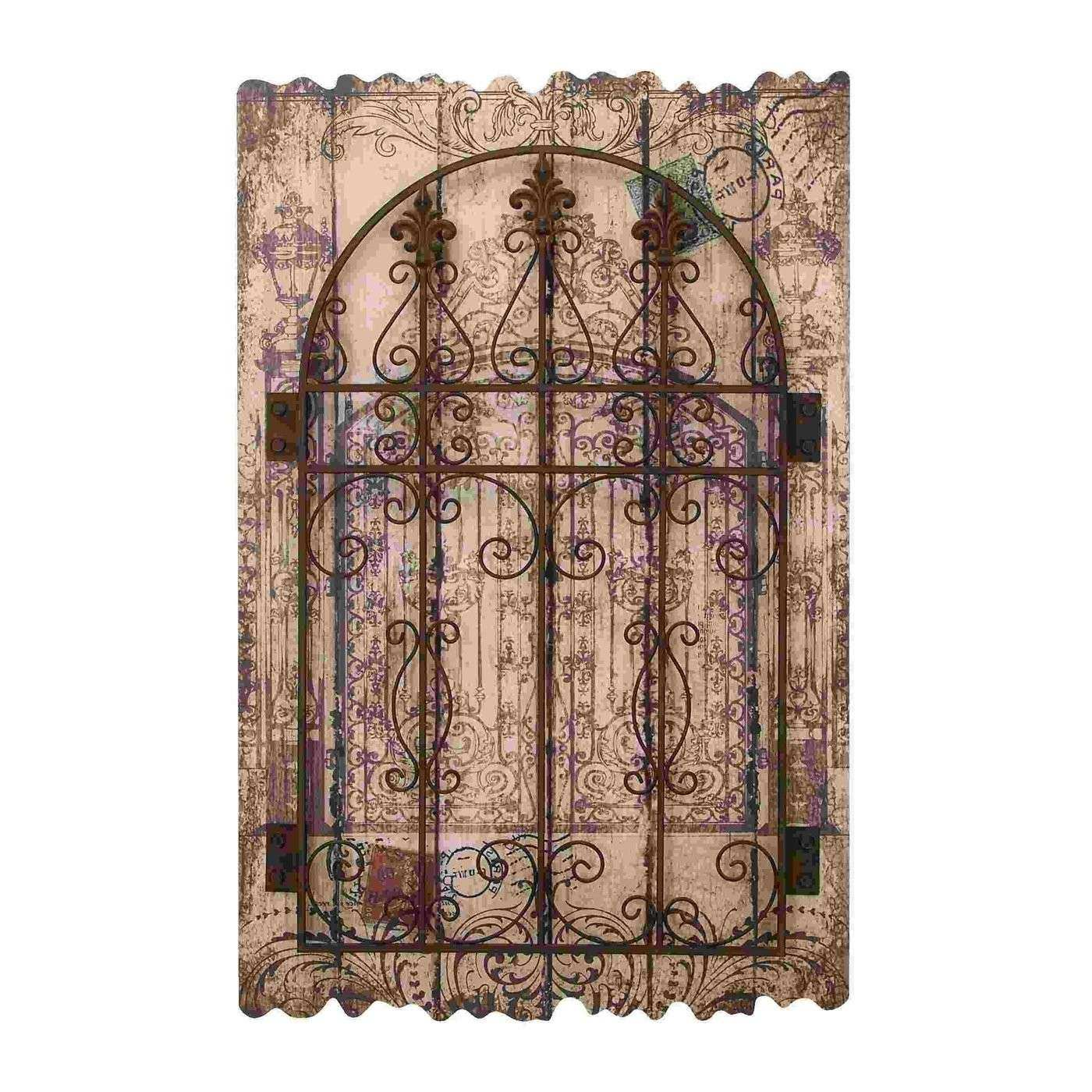 Home Design Superb Iron Wall Decor 7 Rustic Wood