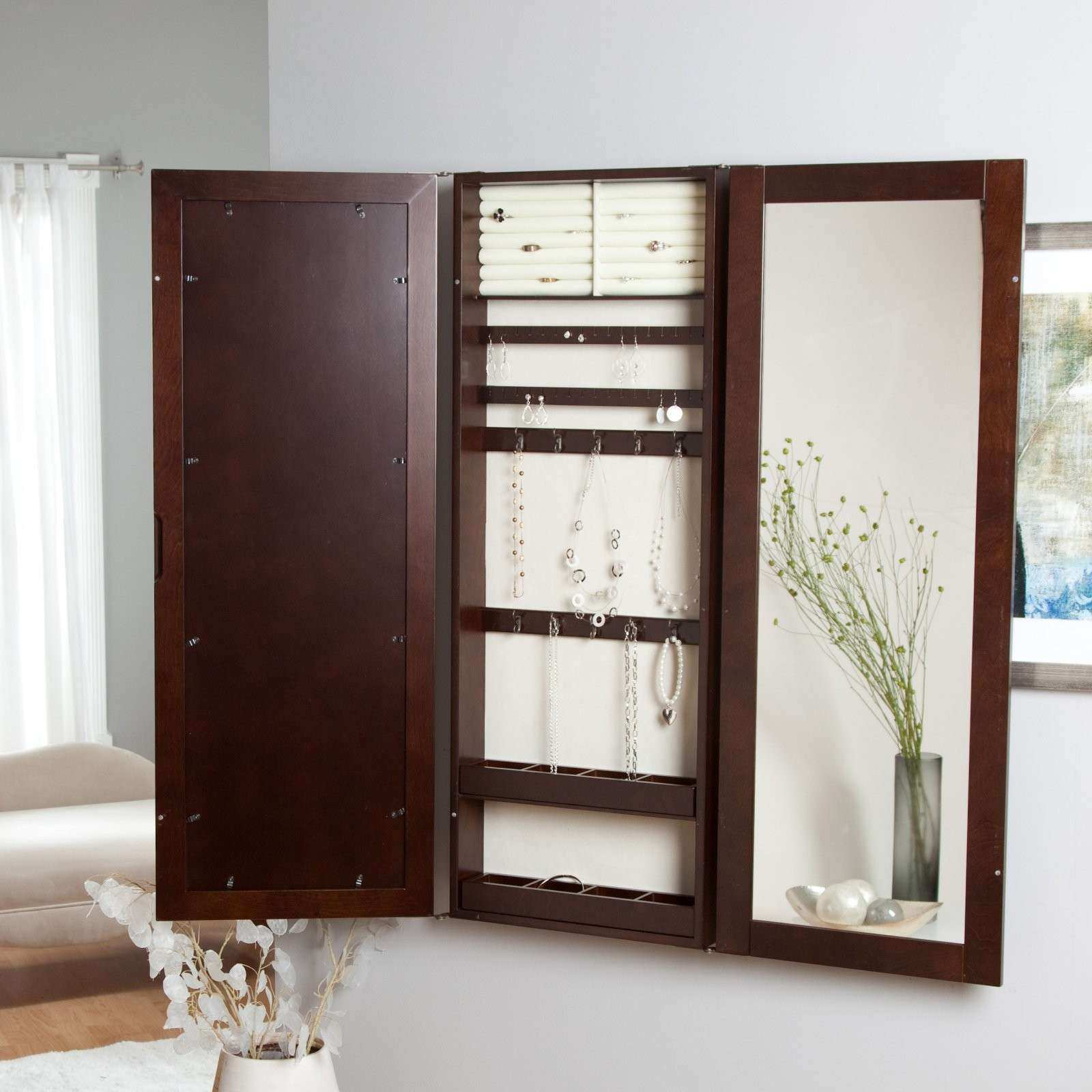 17 Varied Kinds of Wall Mount Jewelry Armoire to Get and Use